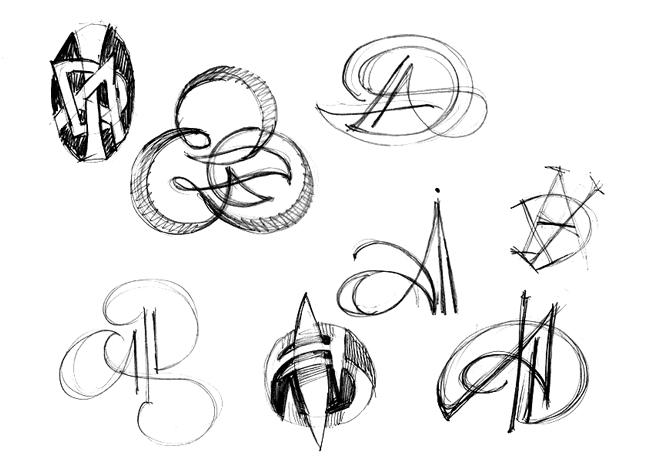 artistic monograms. Black Bedroom Furniture Sets. Home Design Ideas